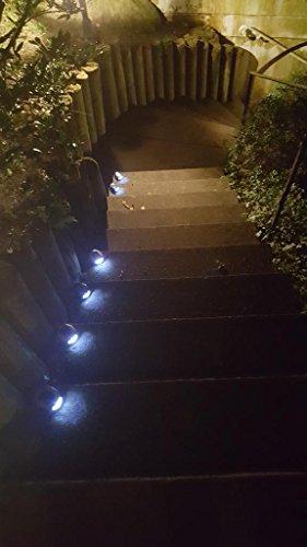 3 x LED Solar-Wegeleuchten in Steinoptik mit Spieß Gartenleuchte Treppenleuchte stimmungsvolles Licht für Ihren Garten, Terrasse.