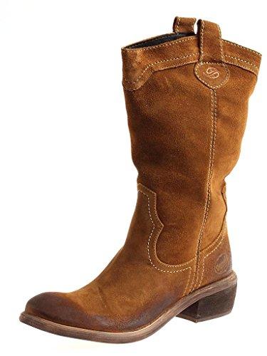 Dockers Cowboystiefel 254302-141017 Westernstiefel Lederstiefel Stiefel Damen