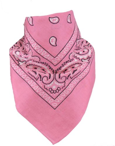 Harrys-Collection Unisex Bandana Bindetuch 100% Baumwolle (1 er 6 er oder 12 er Pack), Farbe:rosa