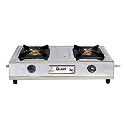 Quba Sg-102 Stainles Steel 2 Burner Manual Gas Stove