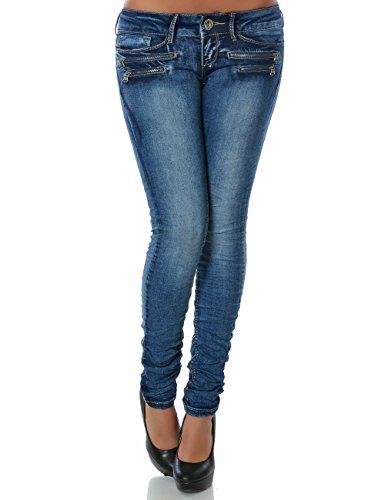 Damen Jeans Hose Skinny (Röhre weitere Farben) No 14089 Blau 36 / S