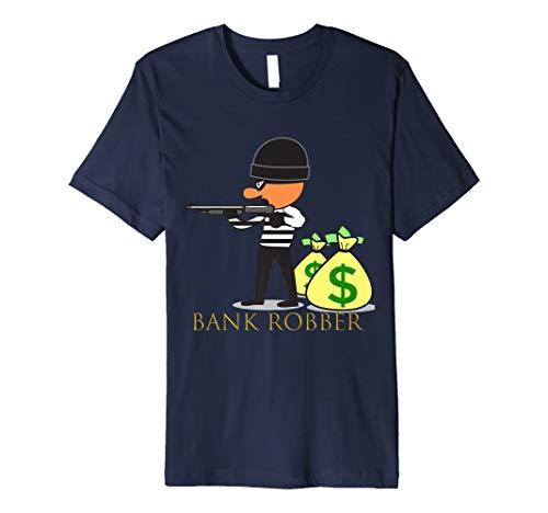 Herren Herren Cool: Bank Räuber Geld Halloween-Kostüm Shirt