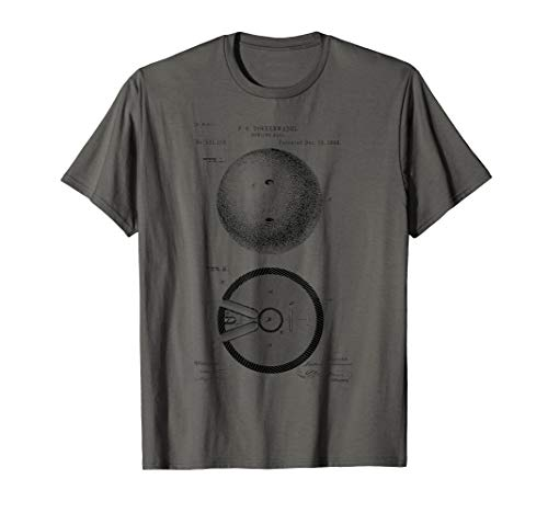 Bowling Vintage Bowling Ball Patent print T-Shirt