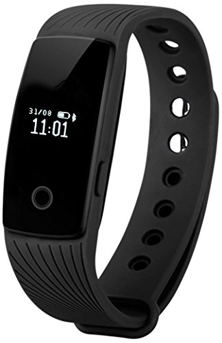 Pedometro Fitness Tracker,YAMAY® Bluetooth Smart Bracciale Wristband Activity Tracker con Pedometro/Sonno Monitoraggio/Monitoraggio Calorie/Notifiche Chiamate/SMS/Whatsapp/ Compatibile per Android e iOS Smartphone