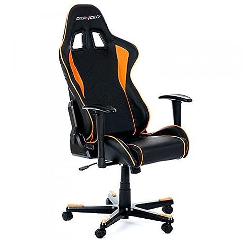 DX Racer OH/FL08/NO Siège Gaming Noir/Orange