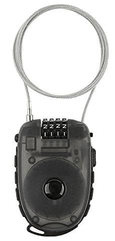 M-Wave Câble rétractable antivol, 90 cm x 2,4 mm