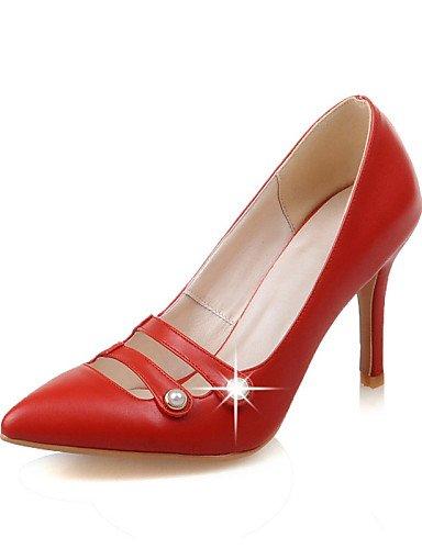 WSS 2016 Chaussures Femme-Habillé / Décontracté-Noir / Rose / Rouge / Beige-Talon Aiguille-Talons / Bout Pointu-Talons-Similicuir black-us5.5 / eu36 / uk3.5 / cn35