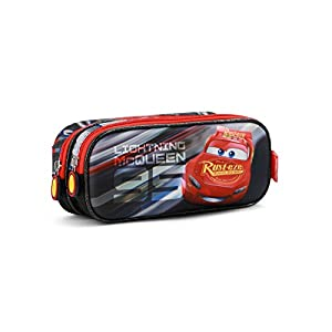 Karactermania Cars 3 Lightning Estuches, 22 cm, Negro