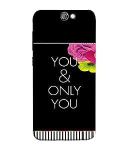 FUSON Designer Back Case Cover for HTC One A9 (Illustration Inspiration Change Motivate )