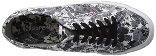 Superga  2750 Fantasy Cotu, Baskets femme Tapestry Black-White
