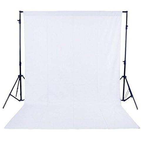 Phot-R 3x3m réglable Support écran Backdrop Heavy Duty Professional Photo Studio stands Kit système 2 x 3mx6m Fond noir non tissé blanc 2 Muslin clips Carry Bag