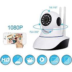 Caméra IP sans fil WiFi, réseau internet LAN, avec deux antennes, LED infrarouges, 720 p