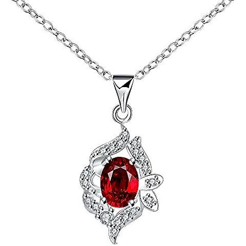 caleqi Stunning Stile geometrico con rosso zircone