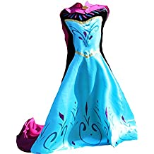 MSC Frozen Frozen Fever Elsa Disfraz Mujer adultos vestido Dress Princesa Azul