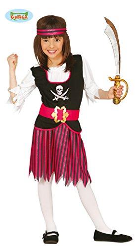 Guirca Piraten Kostüm für Mädchen Gr. 110-146, Größe:110/116 (Kinder Rosa Piraten Kostüm)