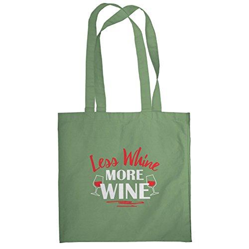Texlab–Less Whine More Wine–sacchetto di stoffa Oliva