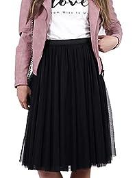 Constant Love® Damen Tüllrock Designer Rock lang Stretchtüll hochwertig mit  Reißverschluss 5a3736708d