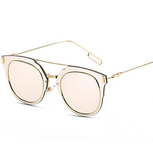 DONG Sonnenbrille Gläser Sonnenbrille Strand Sonnenbrille Sonnenschutz UV Retro Metall Metall 13.9 * 15 * 5cm (Farbe : G)