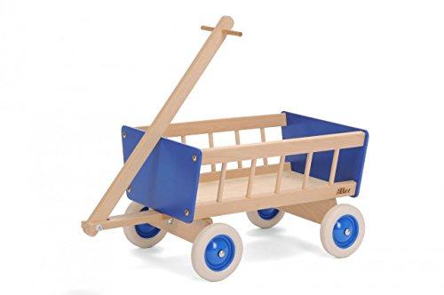 Bollerwagen aus Holz / Material: Buche massiv + Birke Muliplex / Maße: 52 x 36 x 32 cm / für Kinder ab 3 J. / Hergestellt in Deutschland