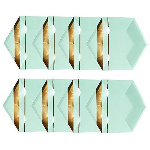 Leisial 8 Stücke Einweggeschirr Geburtstag Einwegteller Pappteller Weihnachten Partei Pappteller Grün 26CM