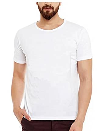 Tryst Men's Cotton Tshirt(TRY-1-M_White_Medium)