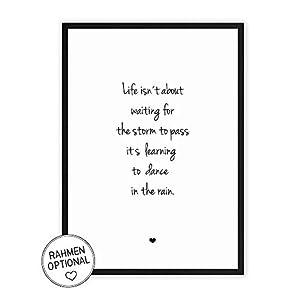 Das Leben meistern - Kunstdruck auf wunderbarem Hahnemühle Papier DIN A4 -ohne Rahmen- schwarz-weißes Bild Poster zur Deko im Büro/Wohnung/als Geschenk Mitbringsel zum Geburtstag etc.