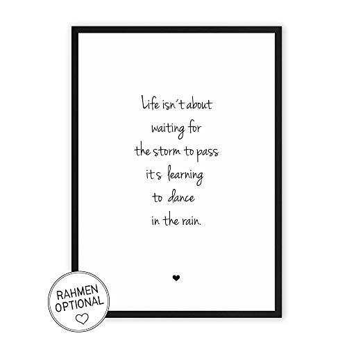 Das Leben meistern - Kunstdruck auf wunderbarem Hahnemühle Papier DIN A4 -ohne Rahmen- schwarz-weißes Bild Poster zur Deko im Büro/Wohnung/als Geschenk Mitbringsel zum Geburtstag etc. -