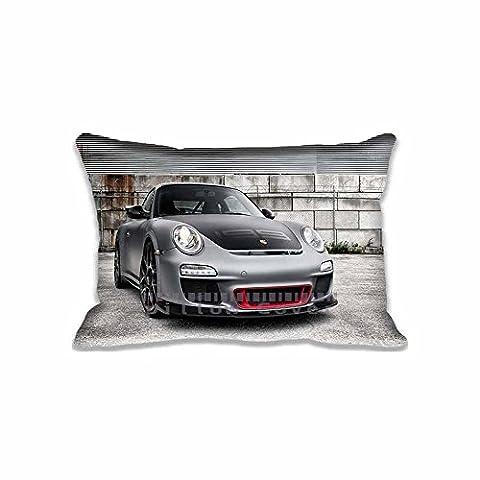 Custom Design ADV.1 Matte Porsche GT3 RS Pillow Cases Zippered , Standard Queen Size Cars Pillowcase - 20X30inch Porsche Cushion Covers Two Size
