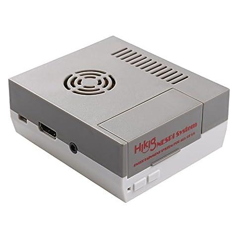 Hikig NES Gehäuse für Raspberry Pi Model 3,2 und B+ Schrauben und Schraubendreher Werkzeug enthalten Graue und weiße Farbe