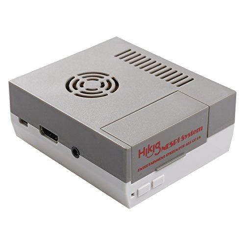 hikig NES Carcasa para Raspberry Pi Model 3,2y B + Tornillos y destornillador Herramientas incluidas Color Gris y Blanco