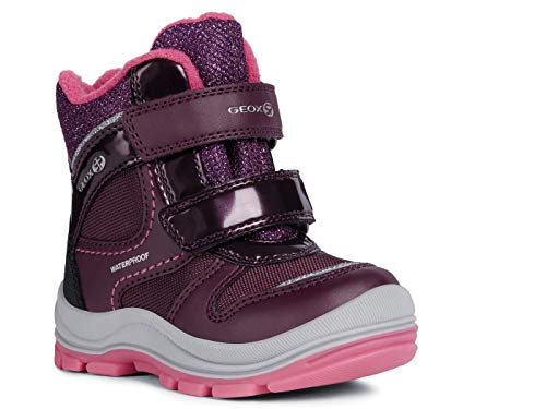 Geox Baby Mädchen Snowboots TRIVOR Girl WPF, Kleinkinder Winterstiefel,Thermostiefel,Moon Boots,Canadians,Purple/Fuchsia,24 EU / 7 UK Child -