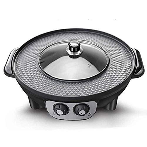 JGSDHIEU Hot Pot Barbecue Whole Pot Barbecue Plate Elektrische Backform Barbecue Haushalt Eisenplatte Barbecue Spülen