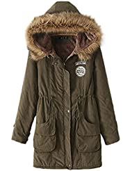 LvRao Mujer - abrigos y parkas para invierno - abrigos con capucha - largo espesan chaquetas - 10 colores