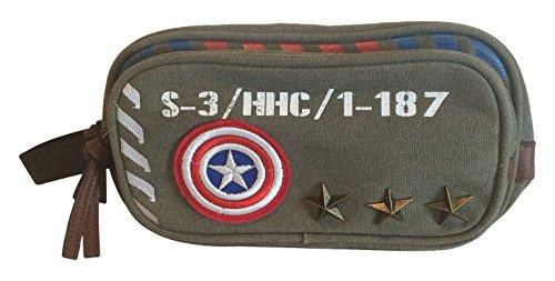 Marvel Captain America Vintage Military Waschtasche (Grün) Grün