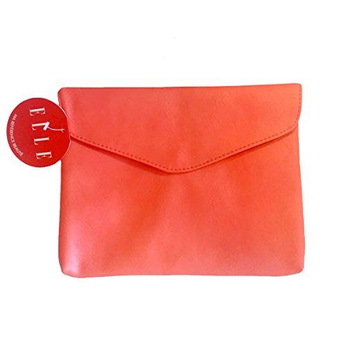 Sie Tasche Brieftasche Effekt Leder koralle (Elle Tasche)