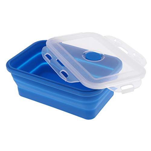 FLAMEER Tragbar Camping-Schüssel, Faltschüssel perfekt für Haus oder Küche - 540ML Blau