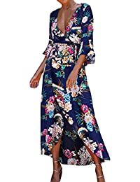 Vestidos Mujer Verano 2018, Zolimx Vestidos Playa Mujer Casual Floral sin Mangas Vestidos Modern Largos