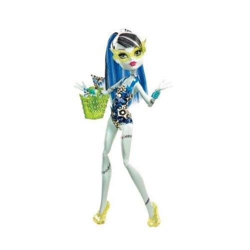 Monster High Frankie Stein Fashion Doll Swimsuit Leopard Print (Original Monster High Frankie)