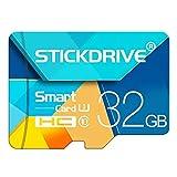 ALRY Carte Mémoire SDXC Classe 10 U1 128 Go Haute Vitesse Bloc De Couleurs (Micro SD) Jusqu'à 80 MB/Sec Carte Flash - Téléphone Portable, Drone, Appareil Photo,32G