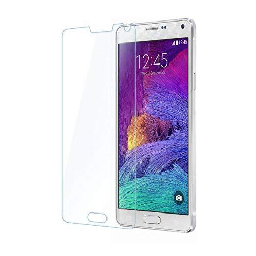 ECENCE 1x Panzerfolie 3D Touch Schutzglas Echt Glas kompatibel für Samsung Galaxy Note 4 SM-N910F 0.33mm dick 9H Tempered Glass 44040108