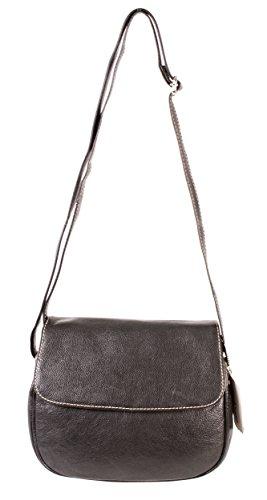 Rl 665 Noir Londres Mesdames sac à main en cuir véritable – Petit Oxbridge Fashion Sac à bandoulière