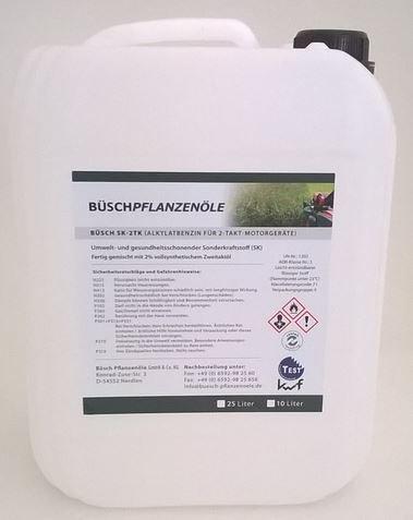 Preisvergleich Produktbild BÜSCH SK-2TK Alkylatbenzin für 2-Takt-Motorgeräte - Sonderkraftstoff (SK) mit kwf-Prüfzeichen - 5 Liter