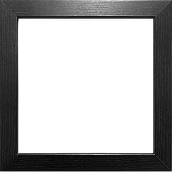 24x24 black colour modern box frames wood finish photo picture square frame