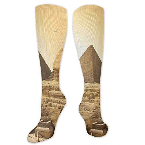 Juzijiang Personalized Compression Socks,Egyptian Pyramids Famous Great Landmark Wonders Of The World Heritage View Theme Picture,Best Medical,for Running,Hiking,Varicose Veins,Circulation & ()