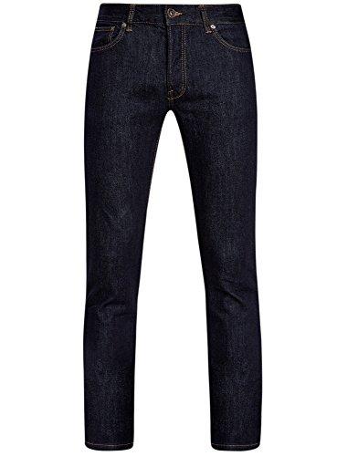 oodji Ultra Herren Jeans Slim Fit Blau (7800W)