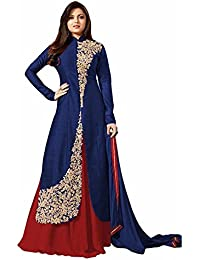 Women's Exclusive Designer Party Wear Collection Todays Best Lower Price Offer Net Pink Colored Anarkali Dress...