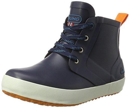 Viking Unisex-Kinder Lillesand Jr. Gummistiefelette, Blau (Navy/Orange), 38 EU