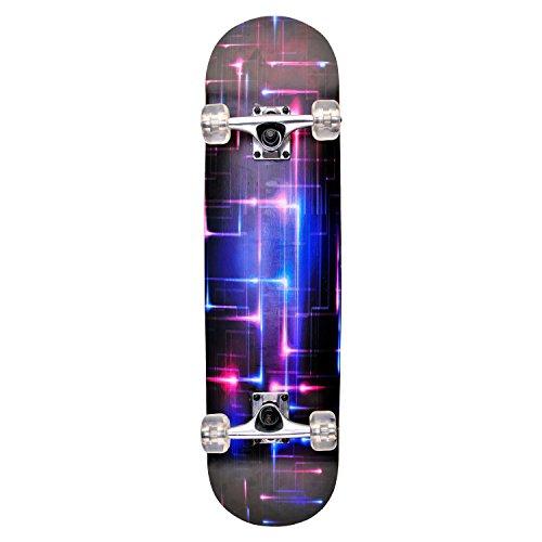 Skateboard Deck Funboard Holzboard komplett 80x20cm Ahornholz - pink