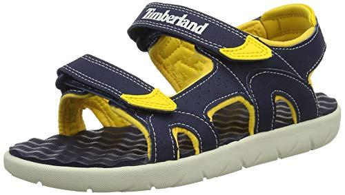 Timberland Sportliche Sandalen (Timberland Unisex-Kinder Perkins Row-2-Strap Sandalen, Blau (Black Iris Xy0), 37 EU)