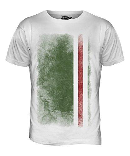 CandyMix Tschetschenische Republik Itschkerien Verblichen Flagge Herren T Shirt Weiß